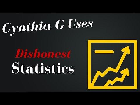 Cynthia G Tries to use dishonest statistics