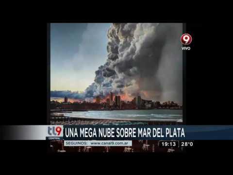 Una mega nube sobre Mar del Plata