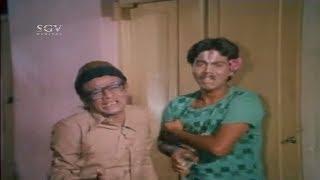 Musuri Krishnamurthy scares his wife comedy | Kiladi Aliya Kannada Movie Comedy Scenes