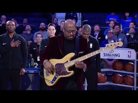 Christian McBride National Anthem - Knicks vs. Timberwolves - 3/23/18 - Madison Square Garden