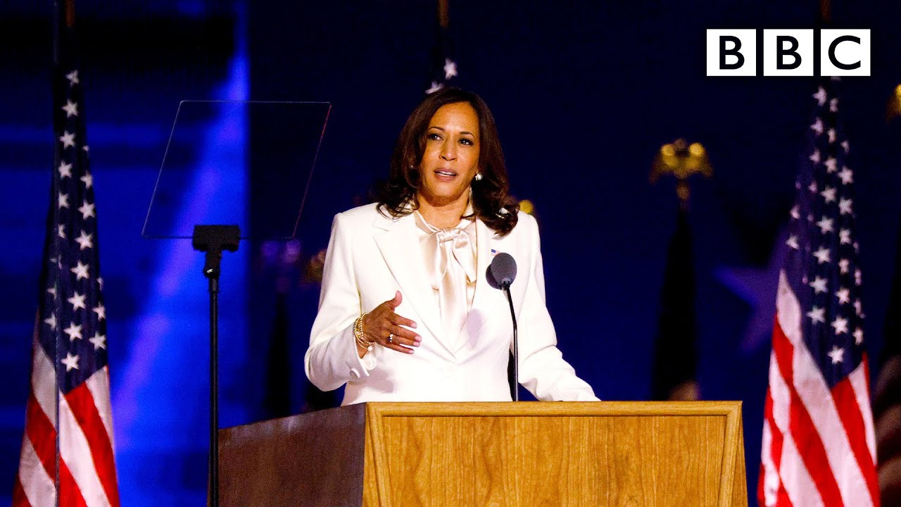 Kamala Harris Speech What This Moment Means For Women Us Election Bbc News Live Bbc Youtube