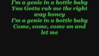 Christina Aguilera - Genie in A Bottle {Lyrics}