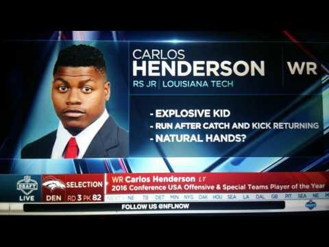 2017 NFL Draft denver broncos RD 3 pick 82 WR Carlos Henderson
