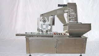 double heads caps wadding MC with lifting feeding system fully automatic wads inserting equipment