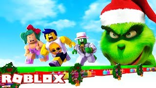 GRINCH OBBY ESCAPE IN ROBLOX! 🏃😱 SAVE CHRISTMAS