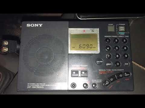 Radio Amhara 6090 kHz Addis Ababa Ethiopia, copied in Rio Capim with Sony ICF-SW6700G
