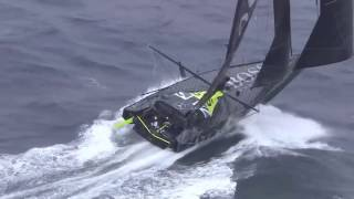 HUGO BOSS Alex Thomson sailing by the Kerguelen Islands - Vendée Globe 2016