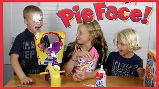 Pie Face Game - The Kids Get PIE IN THE FACE!!