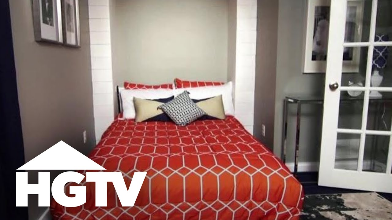 Unexpected Media Room U0026 Guest Room   Basement Makeover | HGTV