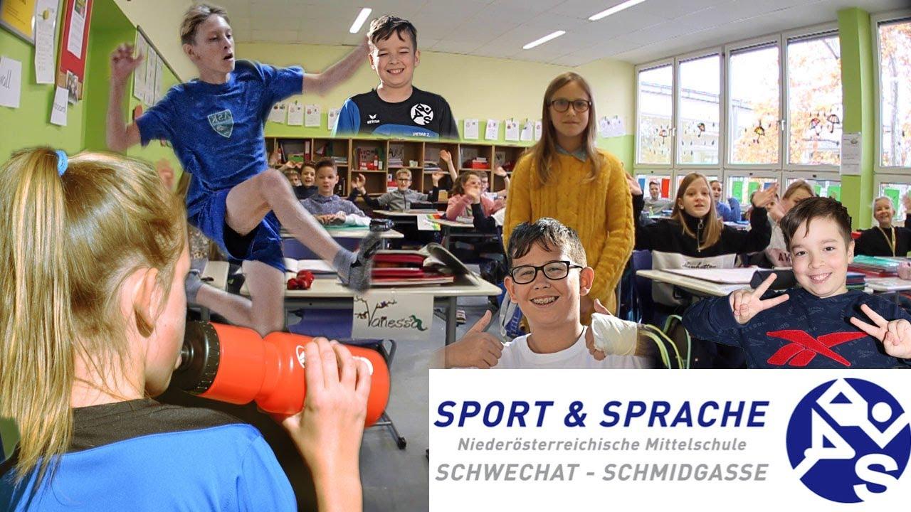 Tour durch die Sport- und Sprachmittelschule Schwechat