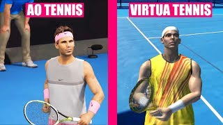 AO TENNIS vs Virtua Tennis 3 Comparison
