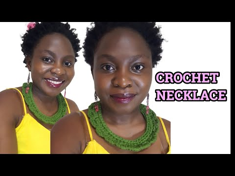 How To Make DIY Crochet Necklace For Beginners | Fabric Necklace