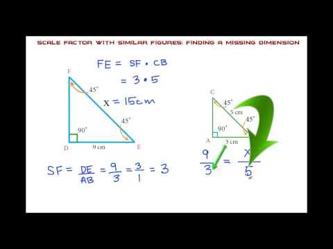 Scale Factor with Similar Figures: THE EASY WAY!