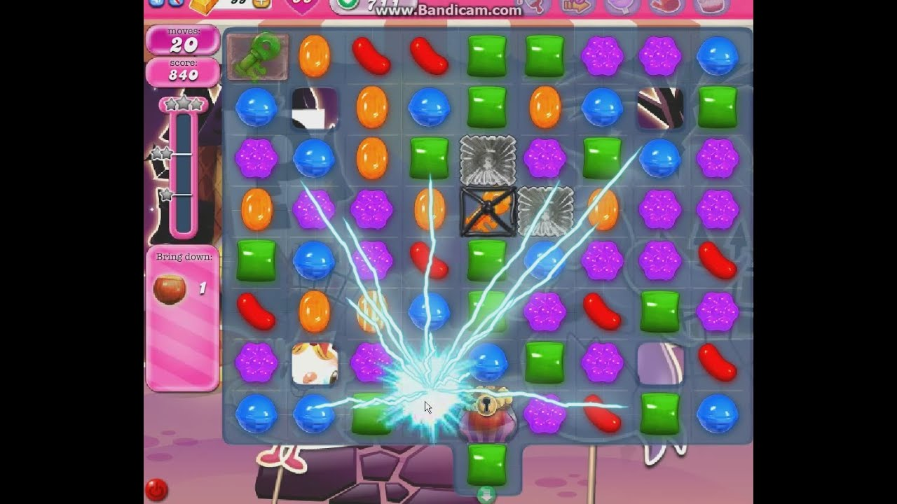 Candy Crush Level 711 ★★★ Tips: How to use the key to open ...