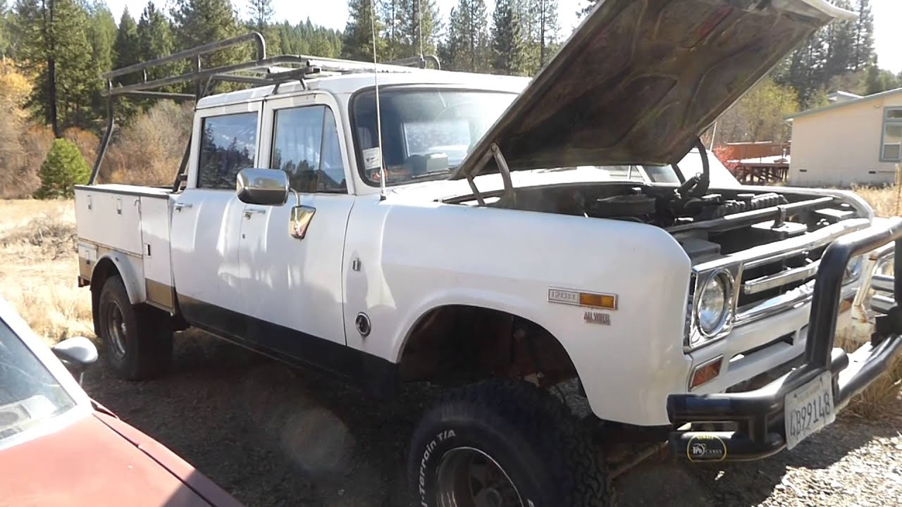 BEEFY - International Harvester Club Cab 4X4 392 Pick Up Truck - YouTube
