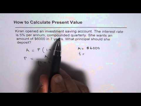 How to Calculate Present Value for Compounding Quarterly