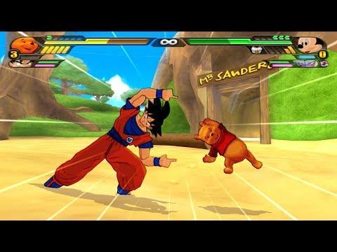 Goku And Winnie The Pooh FUSION | Gonnie The Poku | DBZ Tenkaichi 3 (MOD)