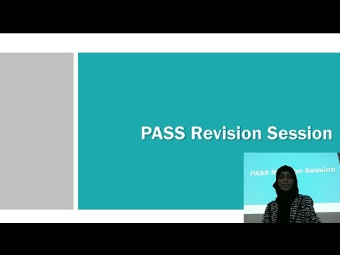 PASS revision session: Year 2 Biomedical Sciences