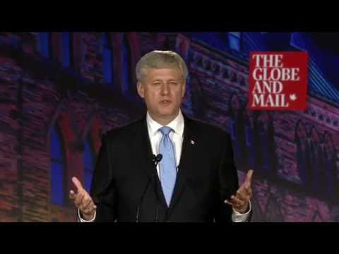 Stephen Harper lists the accomplishments of his Conservative government