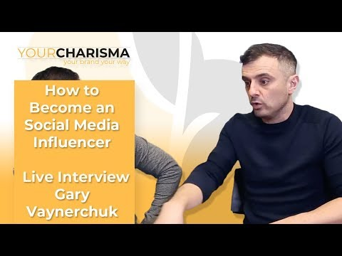 How to Become an Social Media Influencer | Live Interview with Gary Vaynerchuk