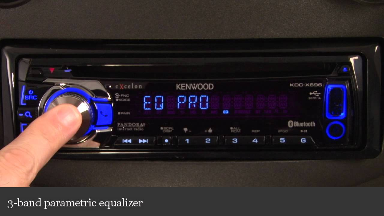 Kenwood Excelon Kdc X696 Cd Receiver Display And Controls
