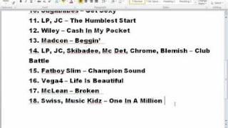 StreetDance 3D Soundtrack List FULL