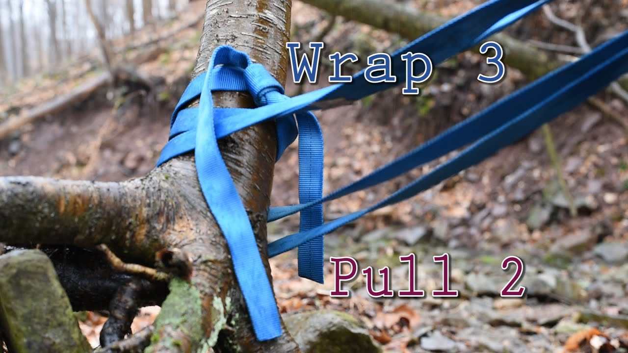 Wrap 3 pull 2 anchor water knot youtube for Pull it off definition