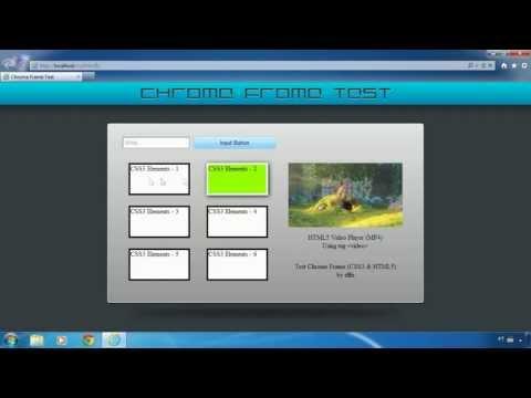 Test Chrome Frame on Internet Explorer 6, 7, 8 and 9