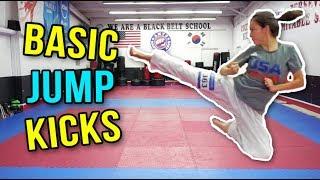 BASIC MARTIAL ARTS JUMP KICKS   Samery Moras Taekwondo