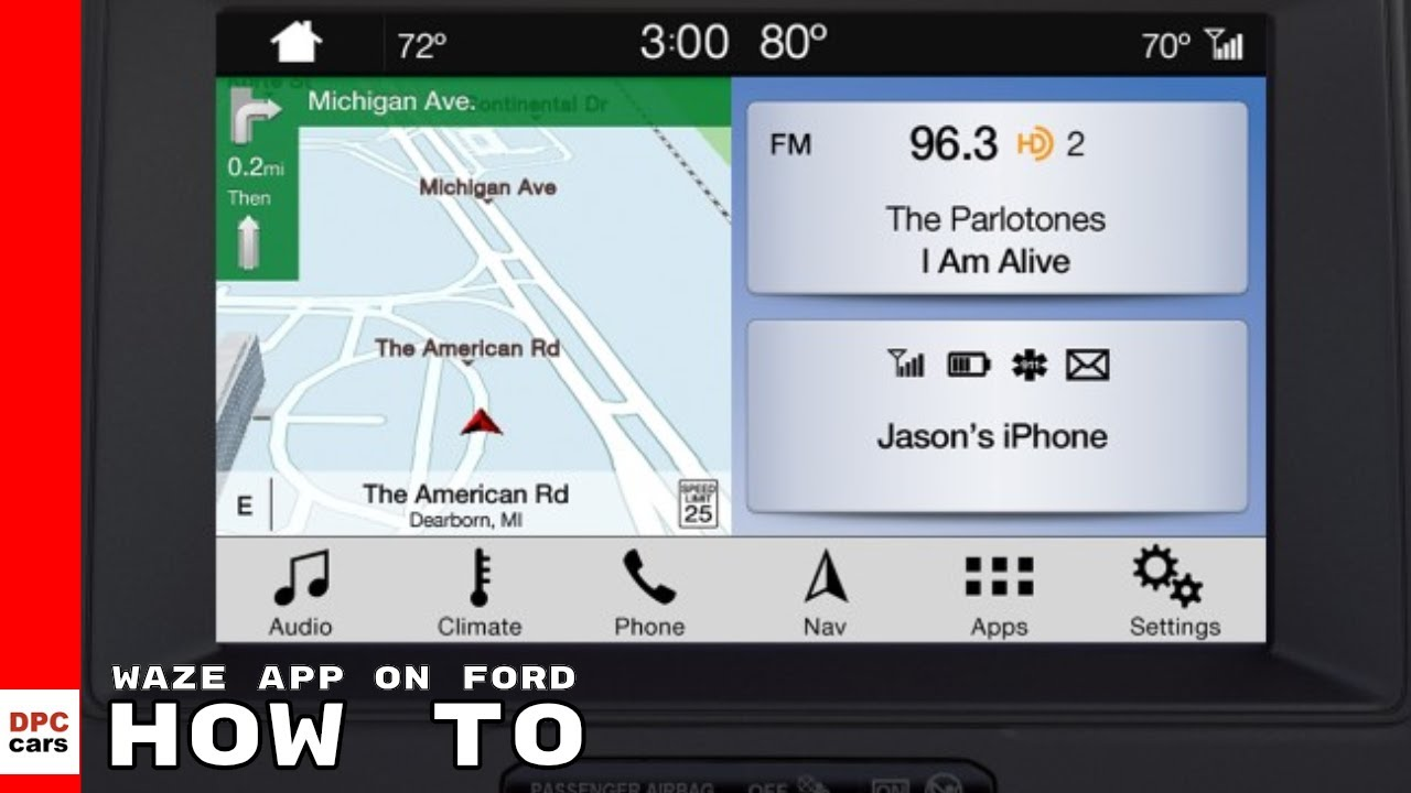 waze app on ford sync 3 how to youtube. Black Bedroom Furniture Sets. Home Design Ideas