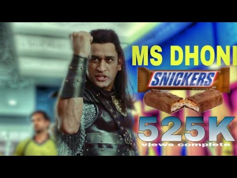 M.S.Dhoni latest add Snickers