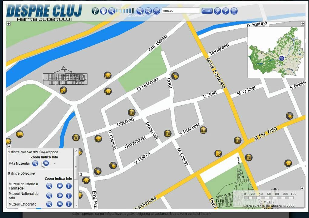Harta Online A Judeţului Cluj Youtube