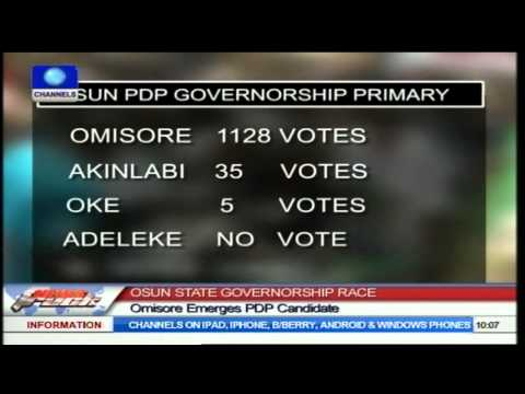 Osun State Governorship Race: Omisore Emerges PDP Candidate