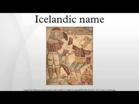 Icelandic name