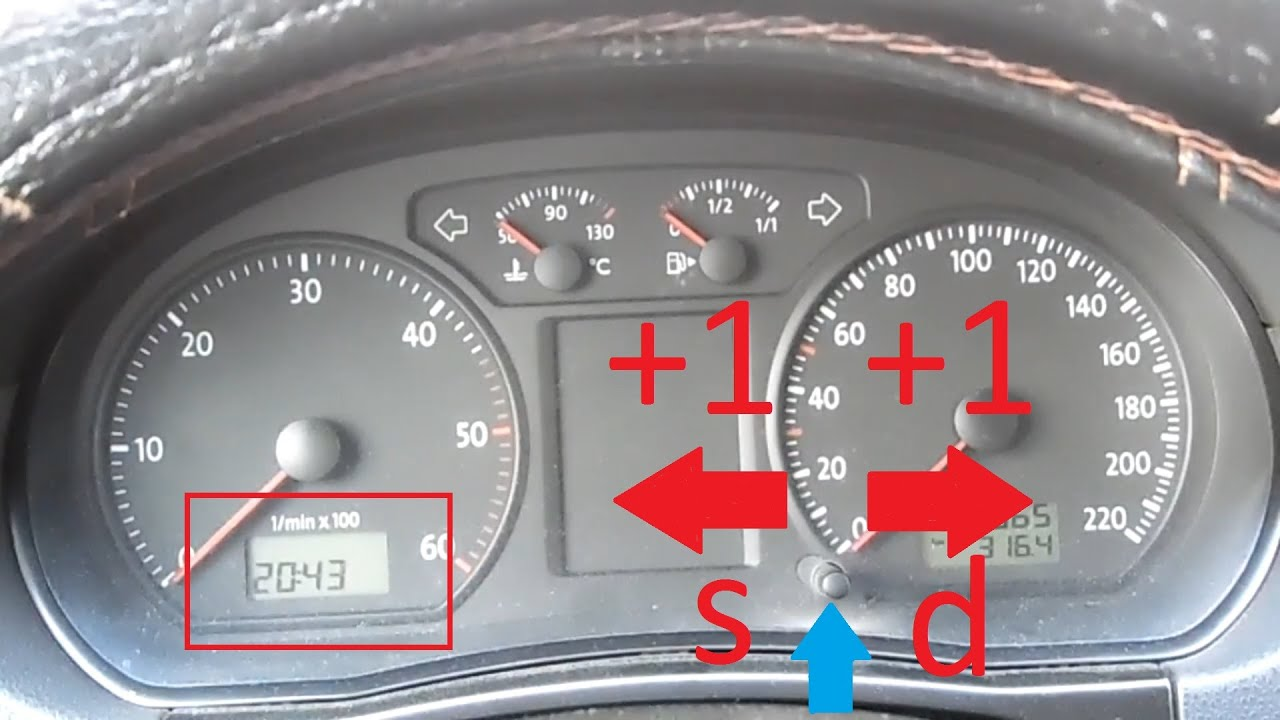 gösterge panosundaki saat nasıl ayarlanır | volkswagen - youtube