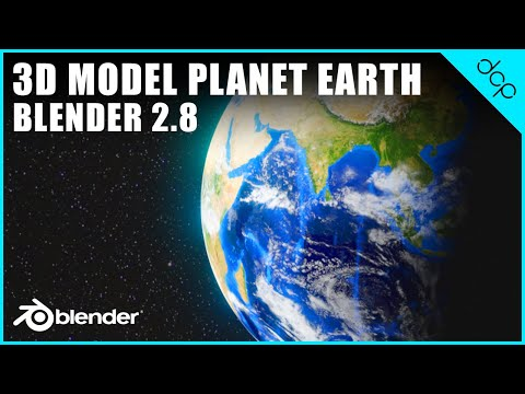 Blender 2.8 Planet Earth Tutorial - Part 1