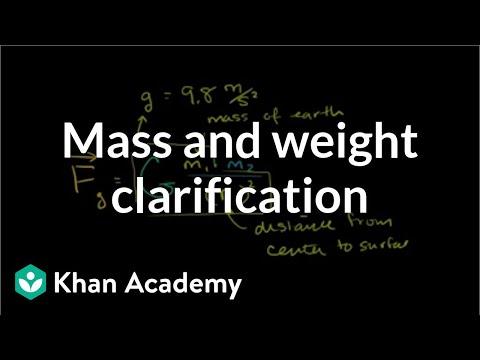 Mass and weight clarification | Centripetal force and gravitation | Physics | Khan Academy