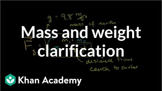 Mass and Weight Clarification