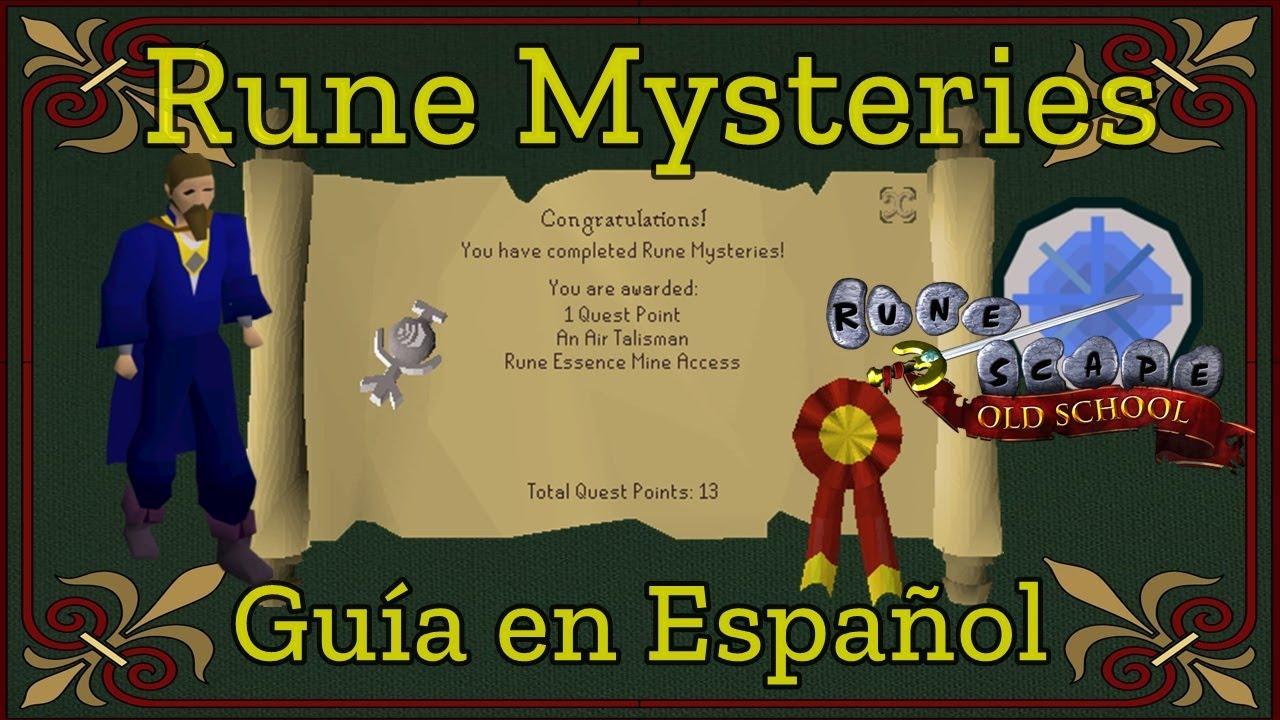 Rune mysteries runescape en español.