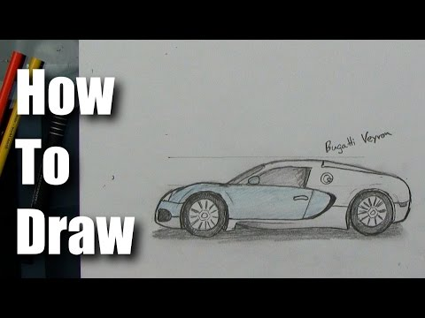 How To Draw - Bugatti Veyron - Sports Car