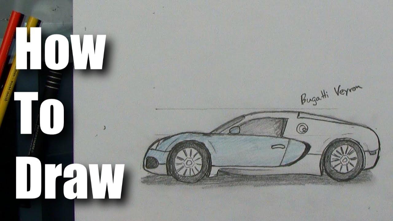 How To Draw - Bugatti Veyron - Sports Car - YouTube