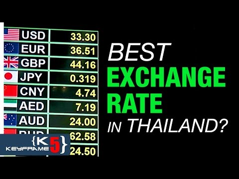 SUVARNABHUMI AIRPORT, BANGKOK VS PATTAYA  - EXCHANGE RATE COMPARISON