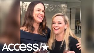 Reese Witherspoon & Jennifer Garner Day Drink & Toast To Their 'Pretend Babies' In Hilarious Video