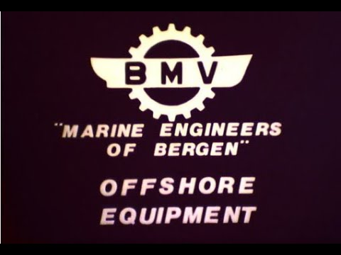 BMV Marine engineers of Bergen Offshore equipment ca 1976