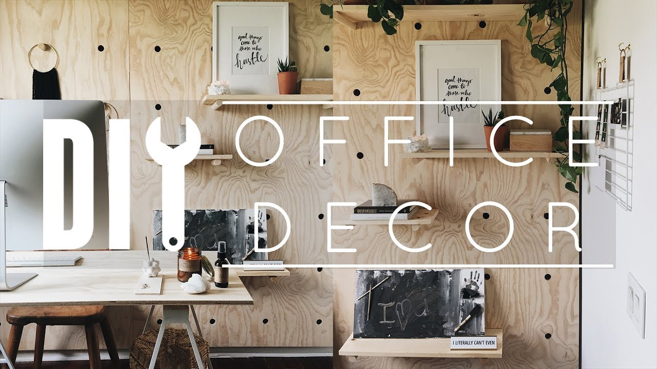 Diy Office Decor Tips Tricks Youtube