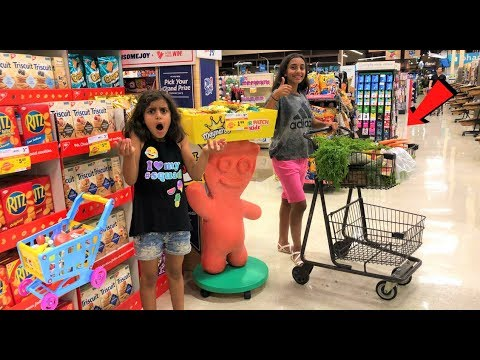 Kids Pretend Play Shopping at Supermarket for Healthy food part 3