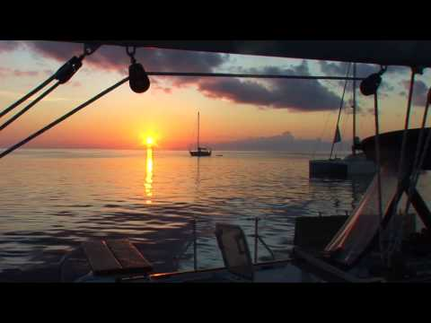 Spectacular Sunset filmed from 'Sophisticated Lady' at St Georges, Grenada, Caribbean