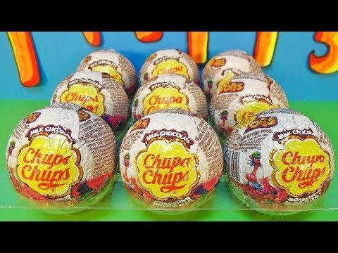 Видео: ТРОЛЛИ шоколадные шары от Чупа Чупс Trolls Chupa Chups Игрушки мультик 2016 Surprise Eggs Unboxing