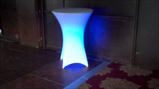Led Poseur Table Hire | Colour Changing Tables | Illuminated Poseur Table - Yorkshire
