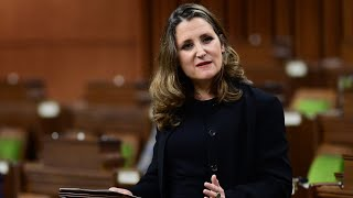 Freeland delivers long-awaited fiscal update